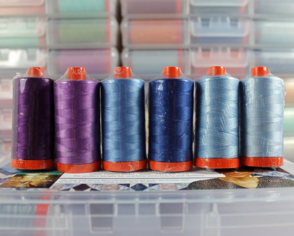 Aurifil Blue Moon Collection von Jackie Kunkel