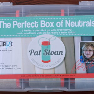 "Aurifil Garn Box ""The Perfect Box of Neutrals"" enthält 12 1300m Spulen der Feinheit 50 wt."