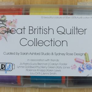 "Aurifil Garn Box ""Great British Quilter Collection"" enthält 12 1300m Spulen der Feinheit 50 wt."