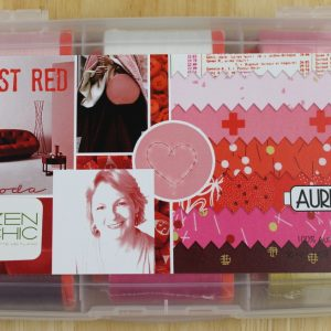 "Aurifil Garn Box ""Just Red"" enthält 12 1300m Spulen der Feinheit 50 wt."