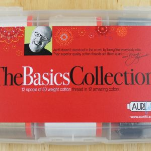 "Aurifil Garn Box ""The Basics Collection"" enthält 12 1300m Spulen der Feinheit 50 wt."